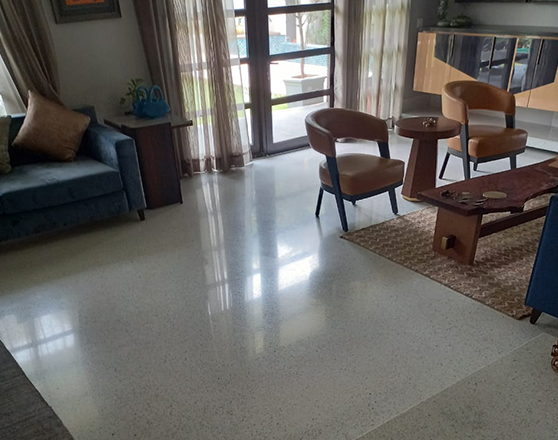 Terrazzo work at Private Residence, Gurgaon