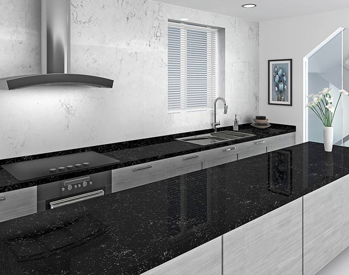 Quartz kitchen work